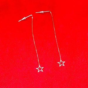 Silver Star Threaders earrings